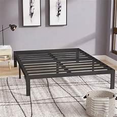 latitude run branson black metal platform bed frame