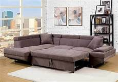 Loveseat Pullout Sleeper Sofa 3d Image by Versatile Sectional Sofa Flannelette Fabric Brown Pull Out