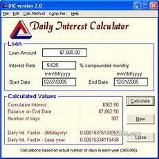Daily Interest Calculator Spreadsheet Download Daily Interest Calculator 3 1