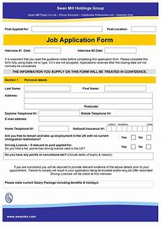 Application Form Employment 50 Free Employment Job Application Form Templates