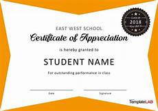 Certificate Of Recognition For Honor Students 30 Free Certificate Of Appreciation Templates And Letters