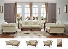 Italian Sofa Sets For Living Room 3d Image esf 2601 ivory italian leather living room sofa set 2pcs