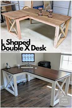 l shaped x desk diy in 2019 home desk plans