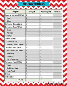 Printable Budget Sheet 5 Free Printables To Organize Christmas