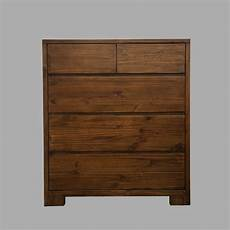 new pinewood tallboy dresser 5 chest of drawers cabinet