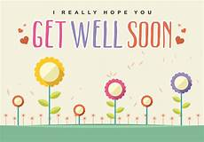 Words For A Get Well Card Get Well Soon Card Vector Download Free Vector Art