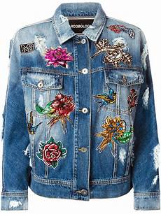 embroidery denim marco bologna embroidered distressed denim jacket in blue