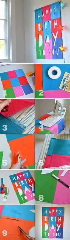Diy Church Banners Diy Felt Birthday Banner No Sew Colorful Craft Party