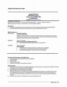 Entry Level Nursing Cover Letters Entry Level Cover Letter For Nurse Sample Word Templates