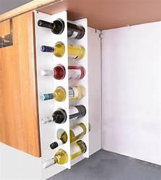 wall cabinet mounted steel narrow wine rack 7 bottle