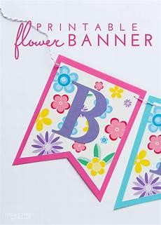 Make Happy Birthday Banner Online Free Super Simple Diy Flower Banner With Free Printable