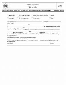 California Bill Of Sale Car Bill Of Sale Utah Fill Out And Sign Printable Pdf