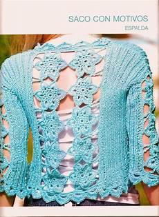 bolero y espalda motivos crochet tricot