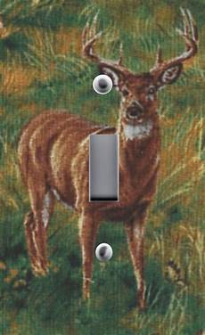 Deer Light Switch Covers Light Switch Plate Amp Outlet Covers With Wildlife Deer Buck