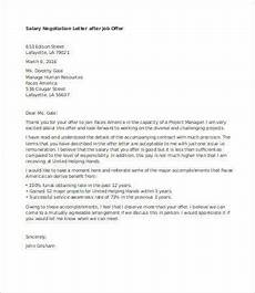 Salary Negotiation Letters Salary Negotiation Letter 4 Free Word Documents Download