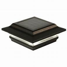 Trex Deck Post Solar Lights 4x4 Black Aluminum Imperial Solar Post Cap Black