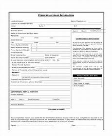 Free Lease Application Form Free 7 Commercial Lease Application Form In Sample