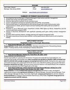Hospitality Manager Resume 5 Hospitality Cv Templates Free Samples Examples