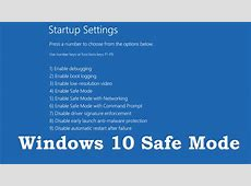 How to Boot into Safe Mode On Windows 10 (3 Ways)   YouTube