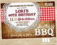 Bbq Birthday Invitations Bbq Birthday Invite Barbecue Birthday Invitation Picnic