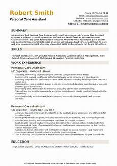 Personal Statement For Care Worker Personal Care Assistant Resume Samples Qwikresume