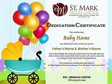 Baby Presentation Certificates Baby Dedication Certificate Freelancer
