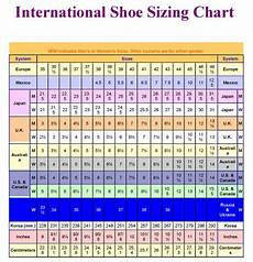 And Shoe Size Chart International Shoe Sizing Chart Perfect For Traveling