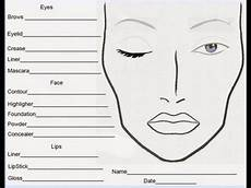 Brown Face Chart Blank Free Face Chart And Blog Youtube