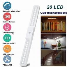 20 led cabinet lighting usb rechargeable wireless
