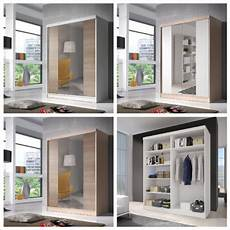 checo modern sliding door wardrobe with mirror on onbuy