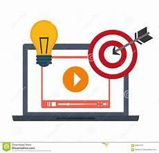 Marketing Graphic Design Video Marketing Graphic Design Vector Illustration Stock
