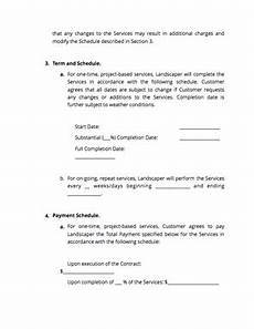 Free Landscaping Contract Forms Landscaping Contract Free Download Docsketch