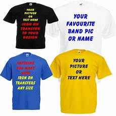 T Shirt Transfer Personalised Iron On Garment Film Your Own Text Design Or