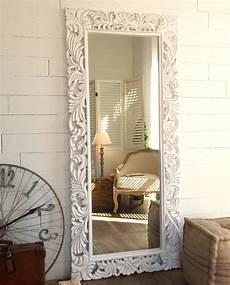 specchi da da letto specchio rettangolare da terra legno intarsiato decapato