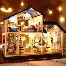 Design A Dolls House 1 24 Diy Wooden Handcraft Miniature Provence Dollhouse