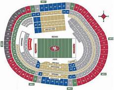 49ers Seating Chart Nfl Football Stadiums San Francisco 49ers Stadium