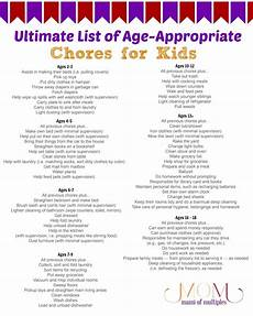 Chore List For Kids Age Appropriate Chores For Kids And Printable Chore Charts