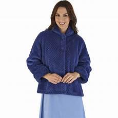 womens soft waffle fleece bed jacket slenderella luxury