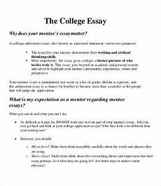 Essay Formats For College College Essay 9 Free Samples Examples Format Download