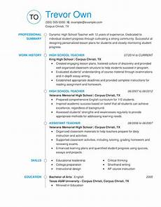Teaching Resumes Samples Easy To Customize Teacher Resume Examples For 2020