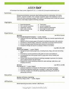 Resume Paper Target Professional Cv Format For Marketing Job Resume Templates