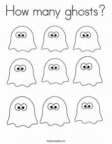 Geister Malvorlagen How Many Ghosts Coloring Page Twisty Noodle