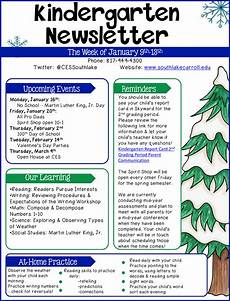Sample Newsletters For Parents Kindergarten Newsletter Example Templates At