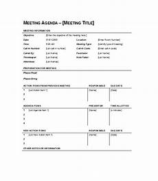 Templates For Agendas 46 Effective Meeting Agenda Templates Template Lab