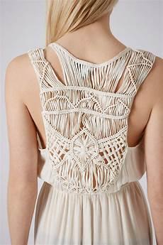 macrame dress lyst topshop macrame back maxi dress in