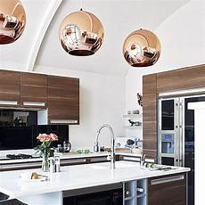 Copper Pendant Light Kitchen The Shiny Kitchen Metal Decor For Your Culinary Space