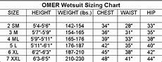 Omer Size Chart Omer Mix 3d 3mm Two Piece Wetsuit