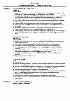 Utility Resume Utility Manager Resume Samples Velvet Jobs