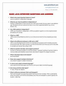 Questions And Answers For A Job Interview Basic Java Important Interview Questions And Answers To