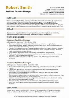 Facilities Manager Resume Facilities Manager Resume Samples Qwikresume
